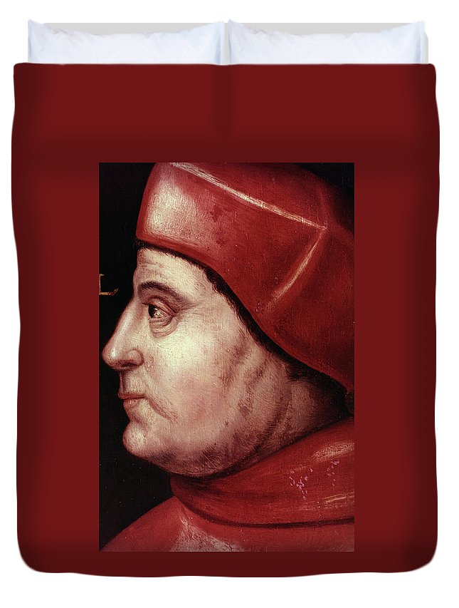 16th Century Duvet Cover featuring the painting Thomas Wolsey (c1475-1530) by Granger