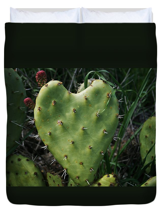 Thorny Heart Duvet Cover featuring the photograph Thorny Heart by Ellen Henneke