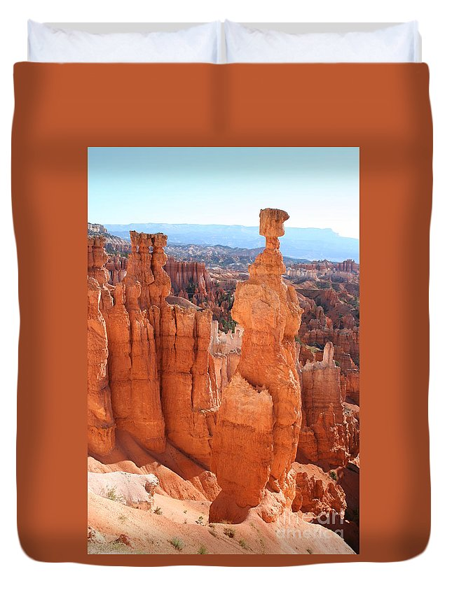 Canyon Duvet Cover featuring the photograph Thors Hammer - Bryce Canyon by Christiane Schulze Art And Photography
