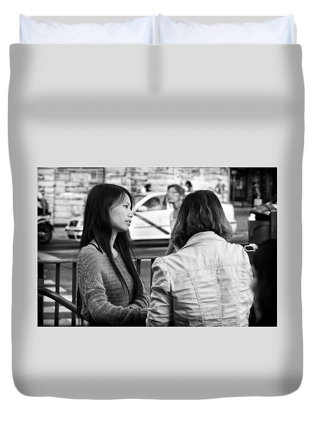 Thoughtful Duvet Cover featuring the photograph Thoughtful by Pablo Lopez