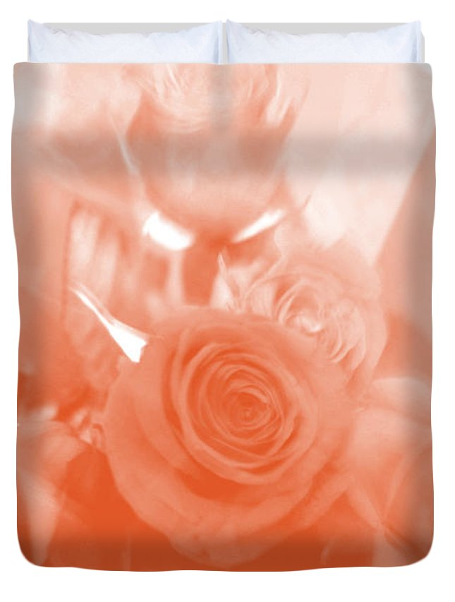 Roses Duvet Cover featuring the photograph Thoughts Of Valentine's Day by Verana Stark