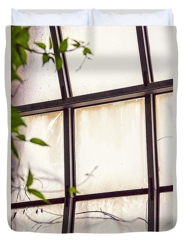 Glass Duvet Cover featuring the photograph Through The Glass by Margie Hurwich