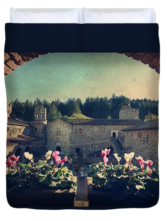 Castello Di Amorosa Duvet Cover featuring the photograph Through Time by Laurie Search