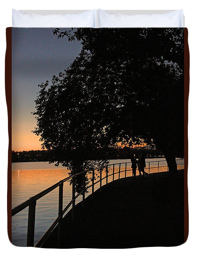 Tidal Basin Duvet Cover featuring the photograph Tidal Basin Sunset0259 by Carolyn Stagger Cokley