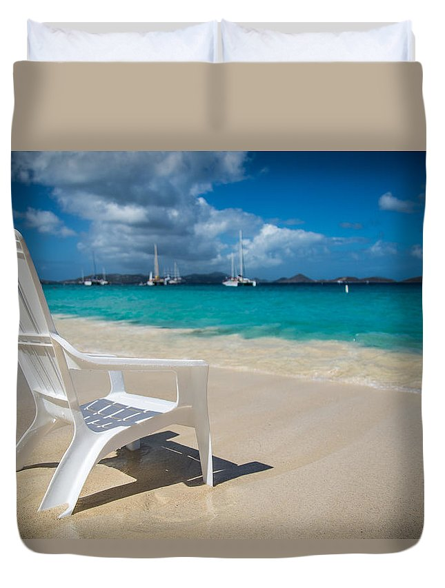 St. Johns Duvet Cover featuring the photograph Tidal Seat by Kristopher Schoenleber