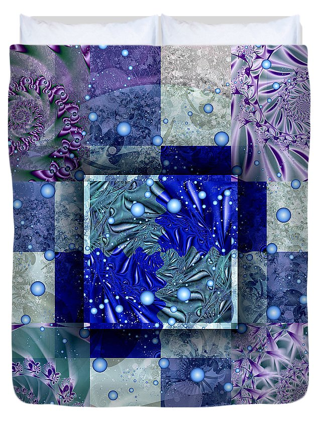 Tidepools Duvet Cover featuring the digital art Tidepools by Kimberly Hansen