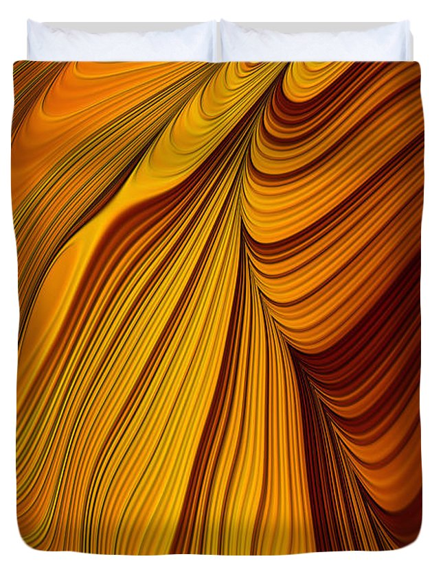 Tiger's Eye Duvet Cover featuring the digital art Tiger's Eye by John Edwards