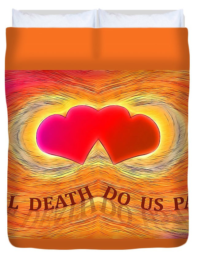 Color Duvet Cover featuring the digital art Till Death Do Us Part by Carlos Vieira