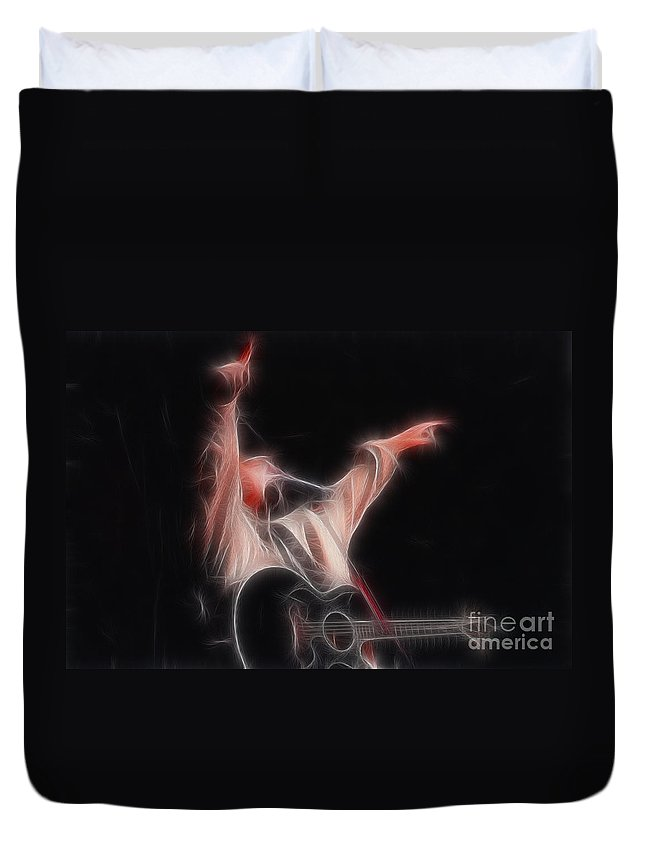 Music Duvet Cover featuring the photograph Tim Mcgraw Ga22 - Fractal by Gary Gingrich Galleries