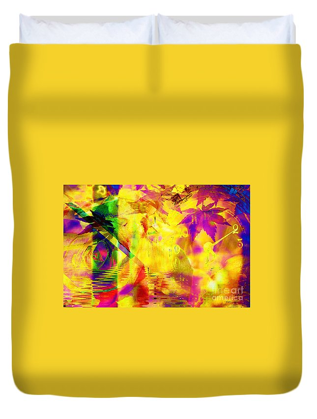 Fractal Art Duvet Cover featuring the digital art Time As An Abstract by Elizabeth McTaggart