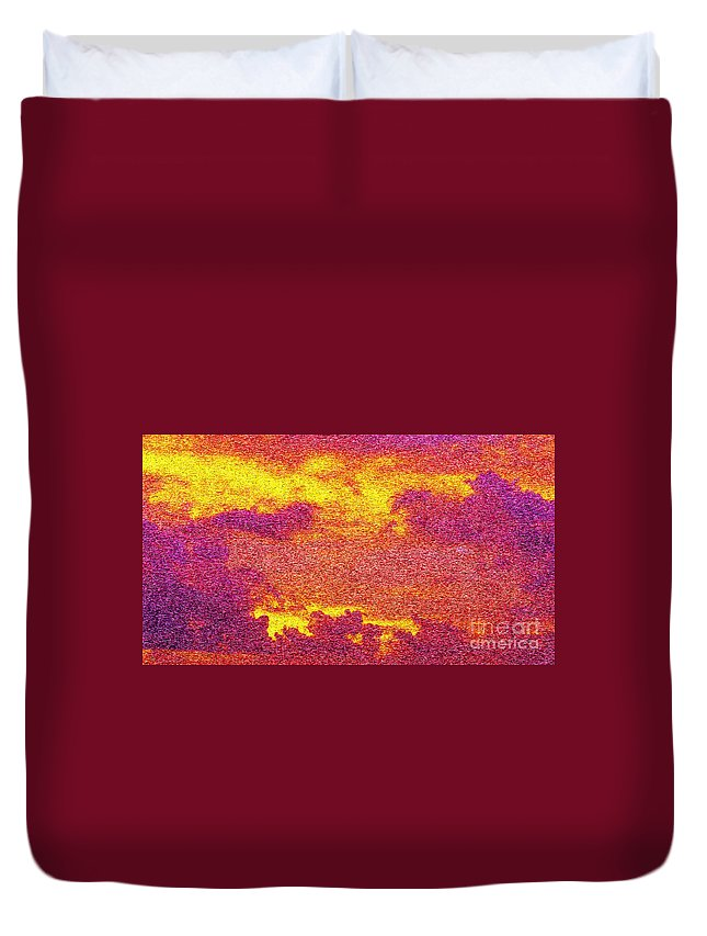 Abstract Duvet Cover featuring the digital art Time For Bed by Michael Anthony