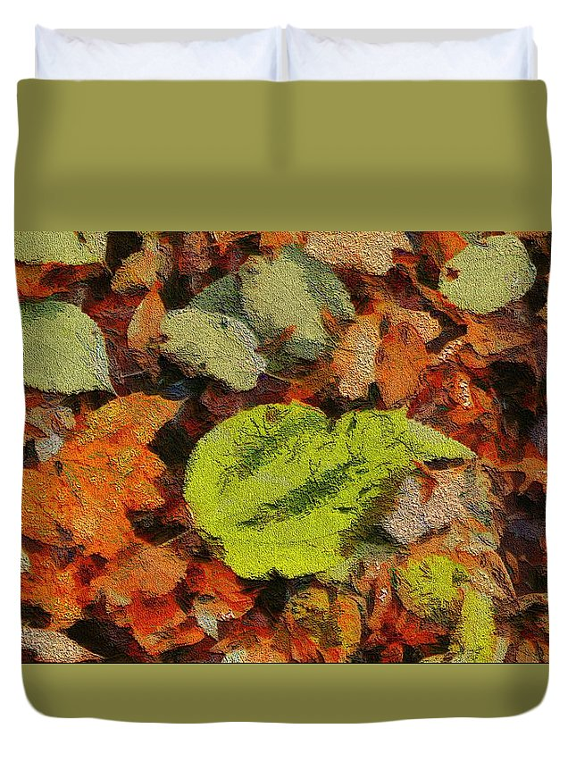 Autumn Hue Duvet Cover featuring the painting Time Of The Season by Dan Sproul
