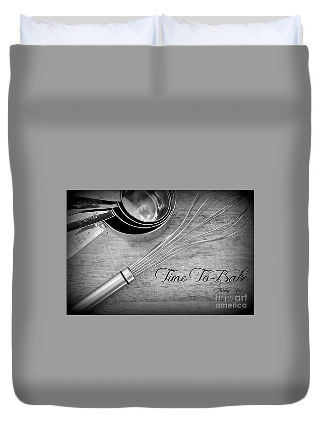 Baking Duvet Cover featuring the photograph Time To Bake by Clare Bevan