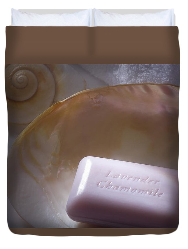 Soap Duvet Cover featuring the photograph Time To Relax by Diane Macdonald
