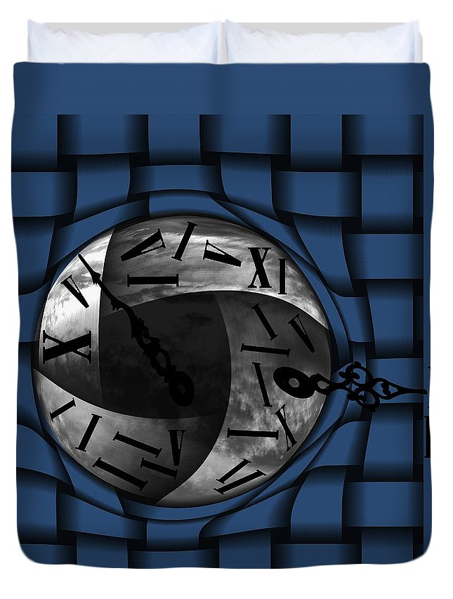 Time Duvet Cover featuring the digital art Time Weaves by Barbara St Jean