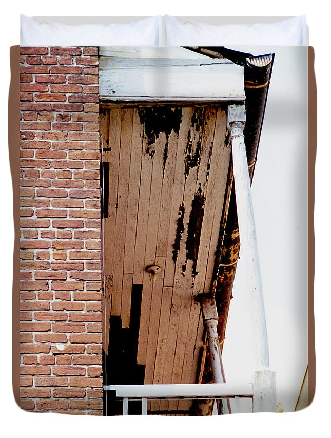 Architecture Duvet Cover featuring the photograph Time Worn by Glenn Aker
