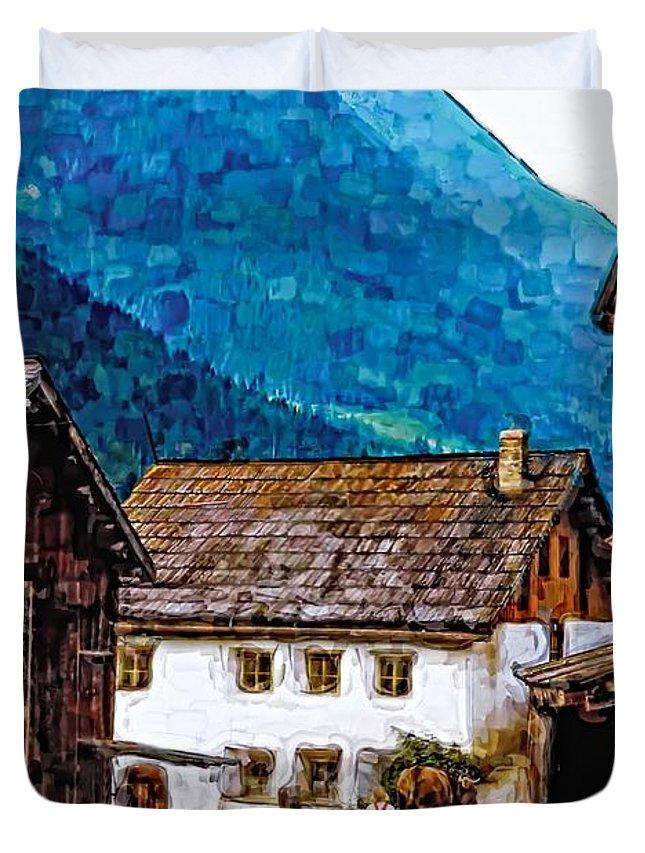 Austria Duvet Cover featuring the photograph Timeless Watercolor by Steve Harrington
