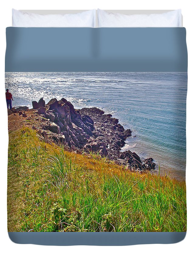 Tip Of Cape D'or Duvet Cover featuring the photograph Tip Of Cape D'or-ns by Ruth Hager