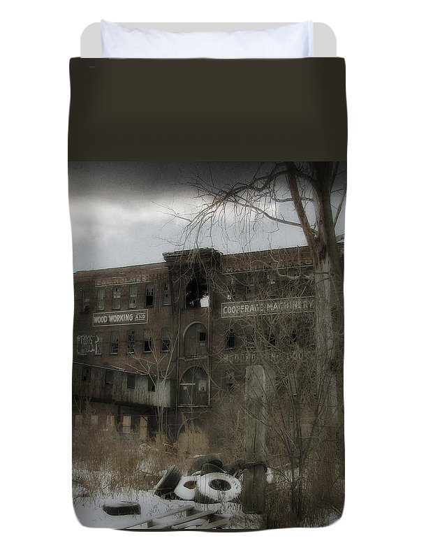 Snow Duvet Cover featuring the photograph Where All The Tires Go by Gothicrow Images