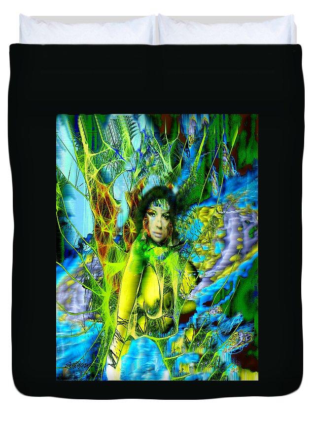Titania Duvet Cover featuring the digital art Titania-midsummers Night Dream by Seth Weaver
