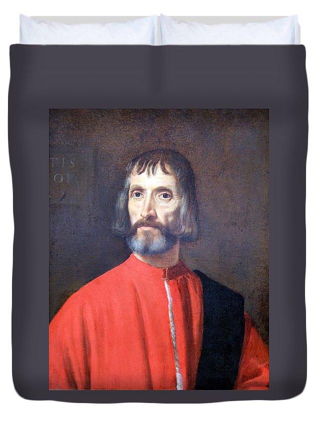 Andrea Dei Franceschi Duvet Cover featuring the photograph Titian's Andrea Dei Franceschi by Cora Wandel