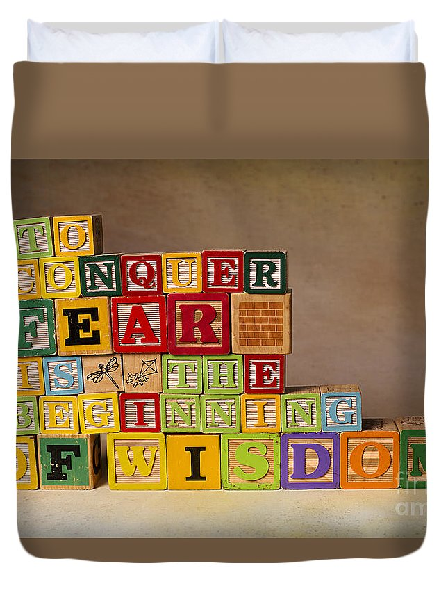 To Conquer Fear Is The Beginning Of Wisdom Duvet Cover featuring the photograph To Conquer Fear Is The Beginning Of Wisdom by Art Whitton