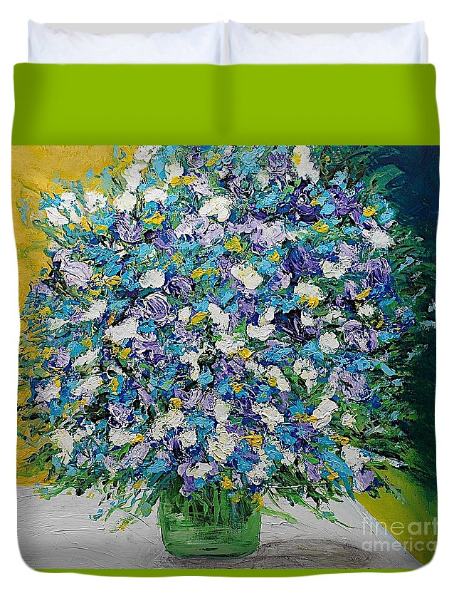 Landscape Duvet Cover featuring the painting To Have And Delight by Allan P Friedlander