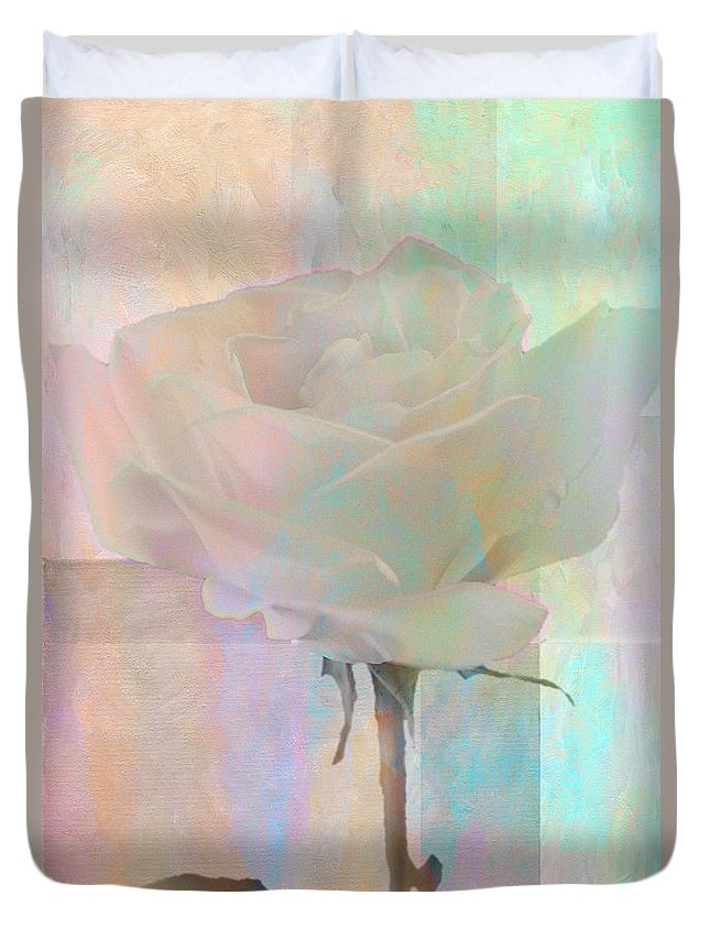 Still Life Duvet Cover featuring the photograph To The Rose by Linda Dunn