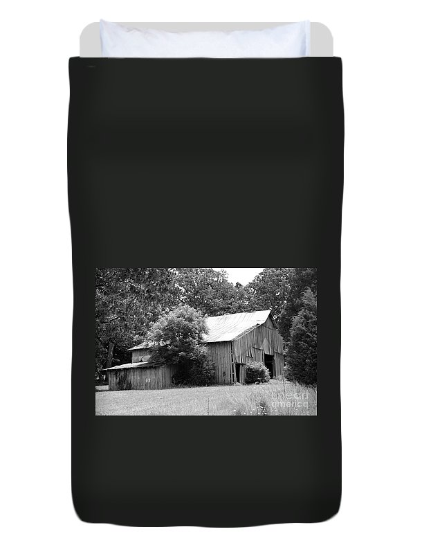 Tobacco Barn Duvet Cover featuring the photograph barn in Kentucky no 10 by Dwight Cook