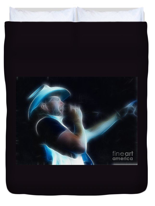 Music Duvet Cover featuring the photograph Toby Keith Fractal-1 by Gary Gingrich Galleries
