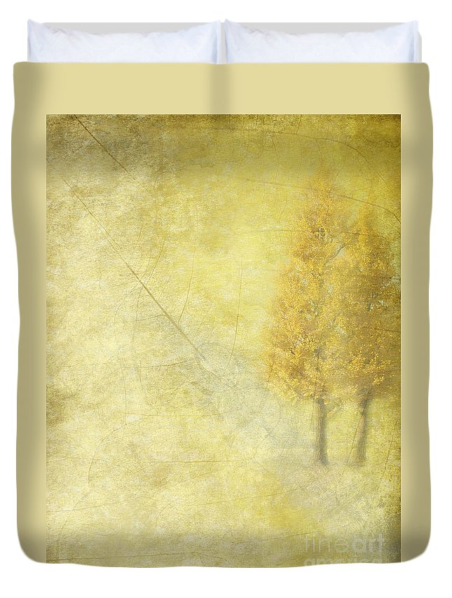 Trees Duvet Cover featuring the photograph Together by Eena Bo