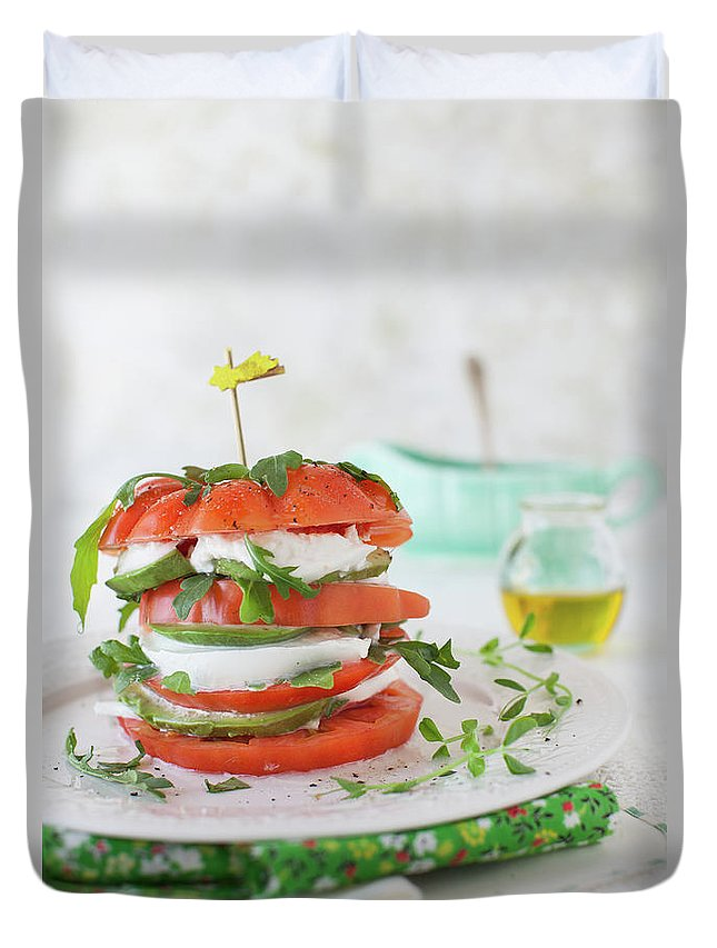 Newtown Duvet Cover featuring the photograph Tomato Salad by Yelena Strokin