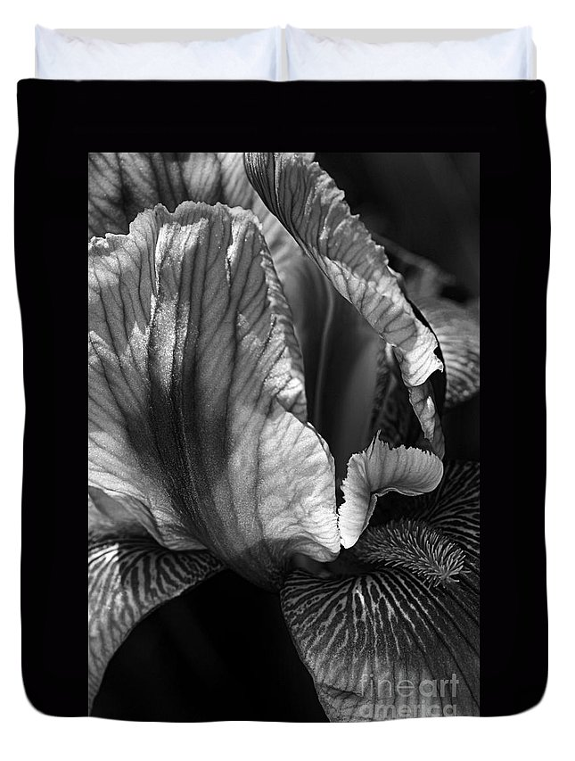 Flora Duvet Cover featuring the photograph Tones Of Iris by Joy Watson