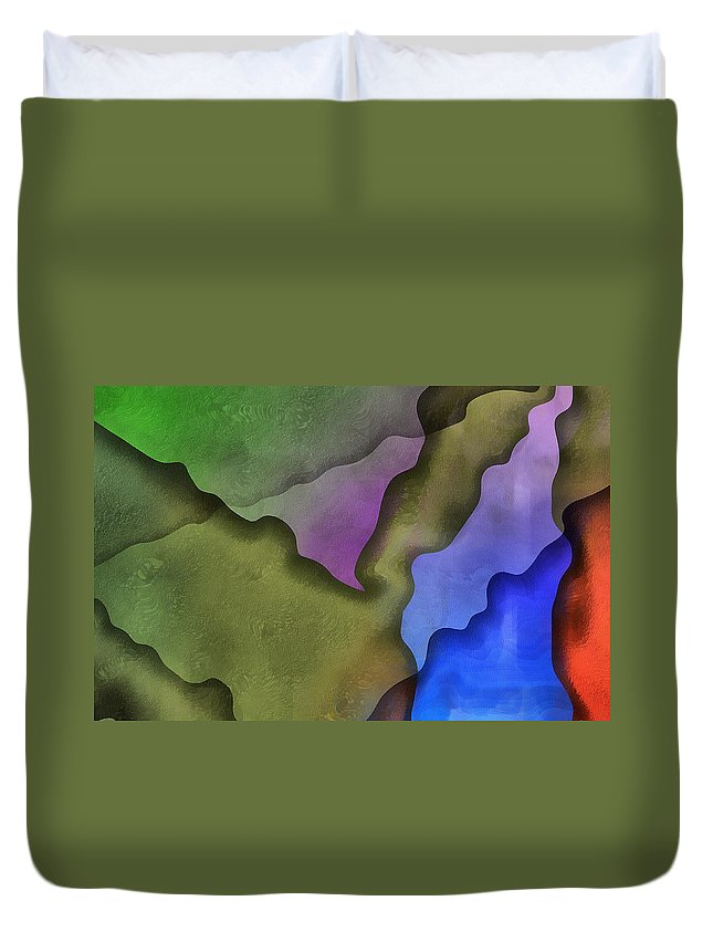 Abstract Duvet Cover featuring the digital art Torn Love Letters by Georgiana Romanovna