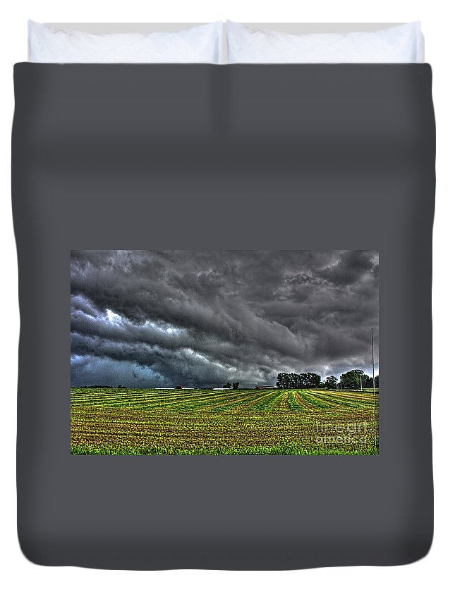 Tornado Duvet Cover featuring the photograph Tornado Over Madison 5 by Tommy Anderson