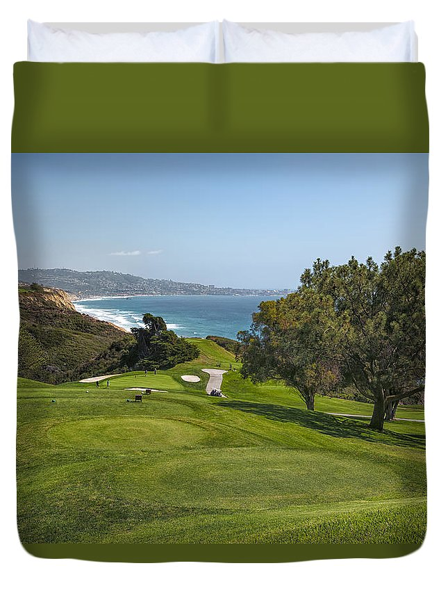 3scape Duvet Cover featuring the photograph Torrey Pines Golf Course North 6th Hole by Adam Romanowicz