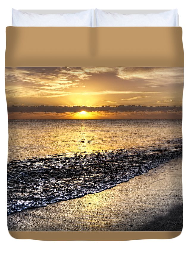 .lauderdale Duvet Cover featuring the photograph Total Serenity by Debra and Dave Vanderlaan