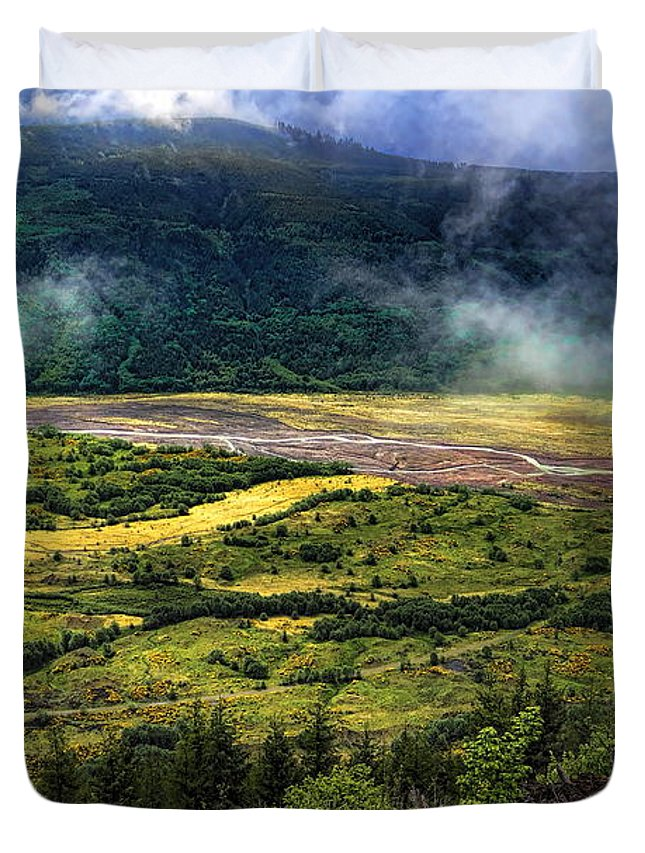 Dale Kauzlaric Duvet Cover featuring the photograph Toutle River Valley by Dale Kauzlaric
