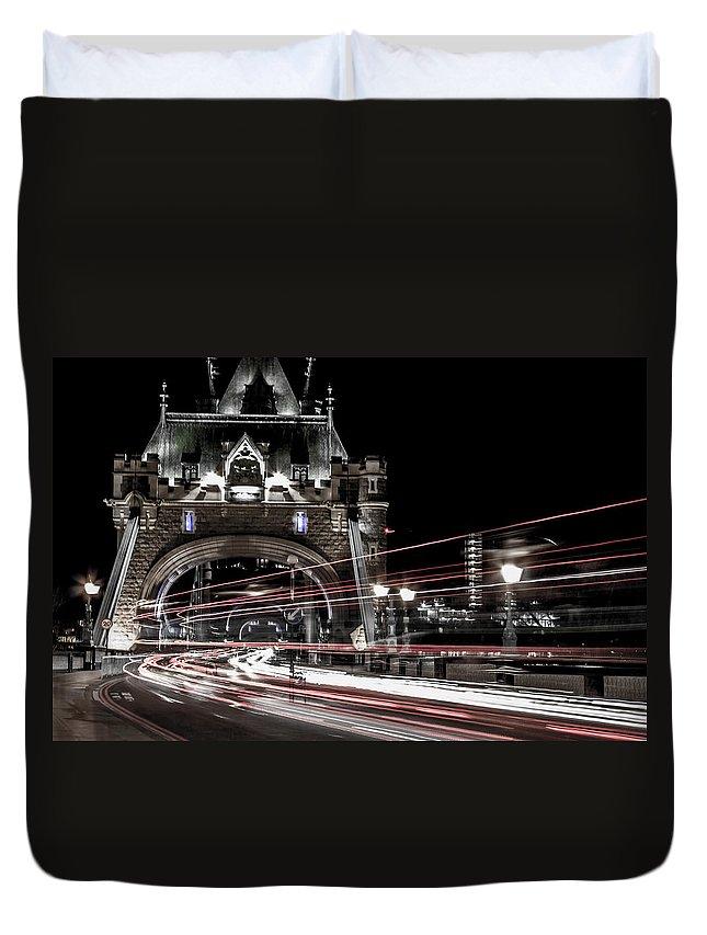 London Duvet Cover featuring the photograph Tower Bridge London by Martin Newman