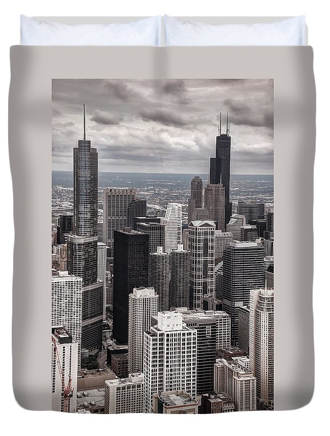 Chicago Duvet Cover featuring the photograph Towers Of Chicago by Ken Smith