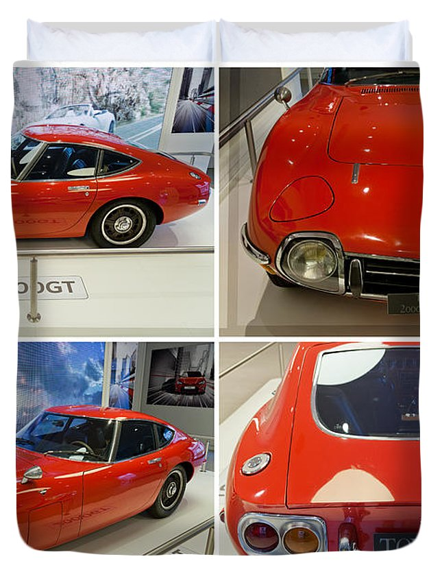Toyota Duvet Cover featuring the photograph Toyota 2000 Gt by Maj Seda