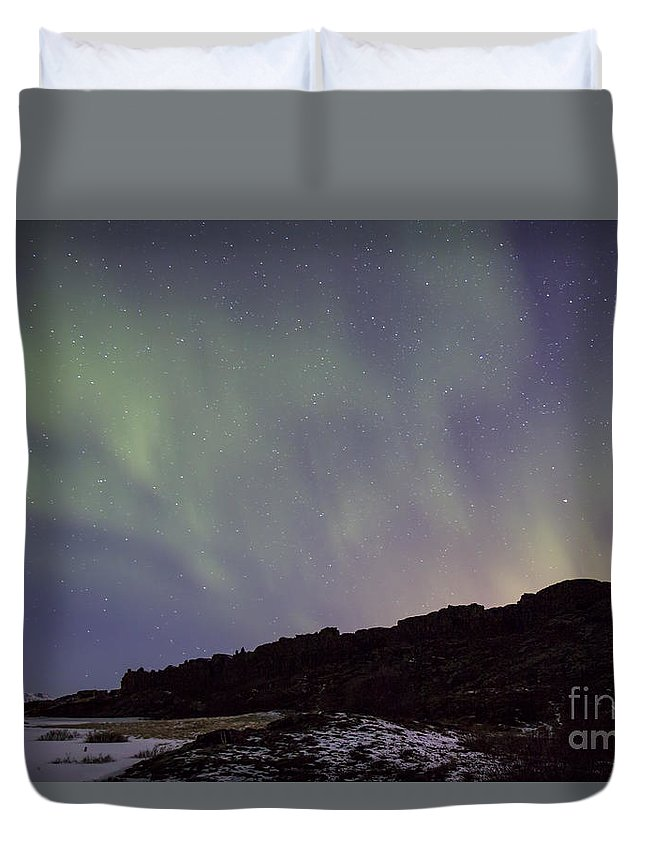 Thingvellir Duvet Cover featuring the photograph Traces Of Dreams by Evelina Kremsdorf