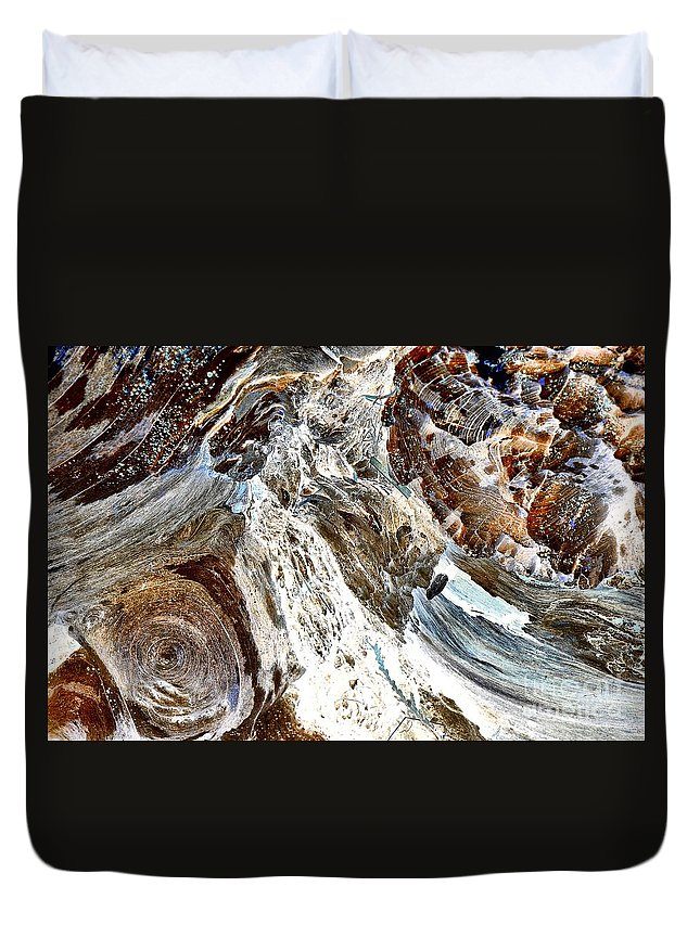 Abstract Duvet Cover featuring the photograph Traces Of Ourselves by Lauren Leigh Hunter Fine Art Photography