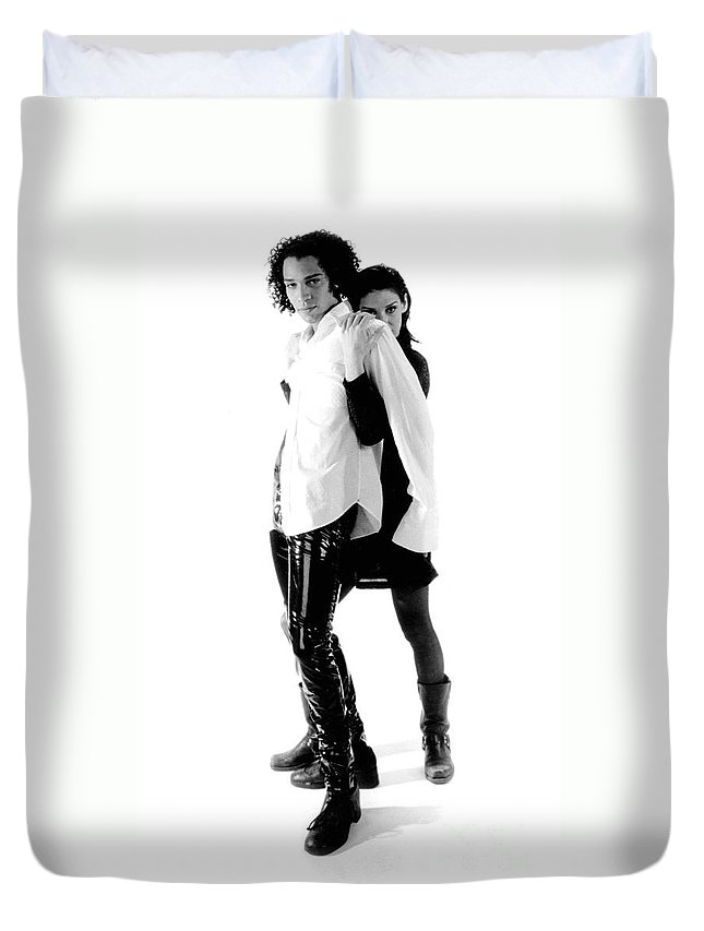 Gary Gingrich Duvet Cover featuring the photograph Traci And Eric Bw by Gary Gingrich Galleries