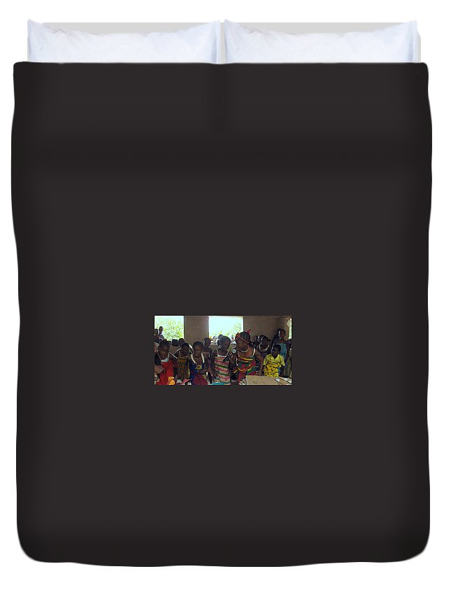 Nigeria Duvet Cover featuring the photograph Traditional Dance And Singing by Amy Hosp