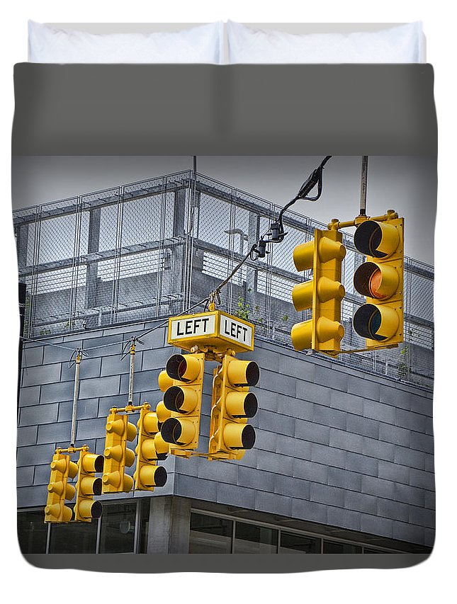 Traffic Lights For Sale >> Traffic Lights And Left Turn Signal Duvet Cover