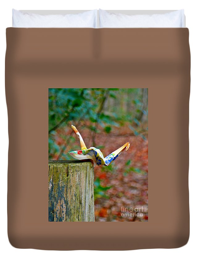 Trail Duvet Cover featuring the photograph Trail Origami by Chris Sotiriadis
