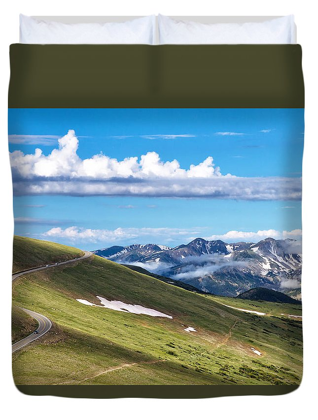 Rmnp Duvet Cover featuring the photograph Trail Ridge Road In Rocky Mountain National Park by Ronda Kimbrow