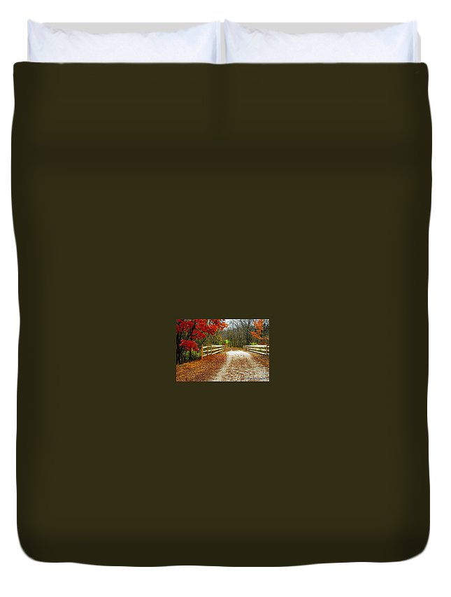 Autumn Duvet Cover featuring the photograph Trailing In Autumn by Tami Quigley