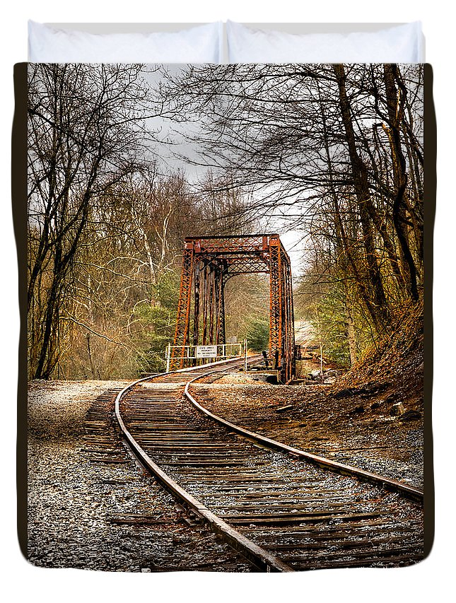 Appalachia Duvet Cover featuring the photograph Train Memories by Debra and Dave Vanderlaan